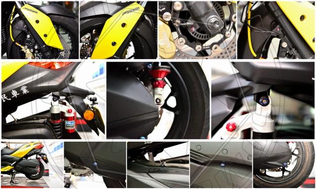 XMAX原廠全車外觀鍍燒鈦螺絲組