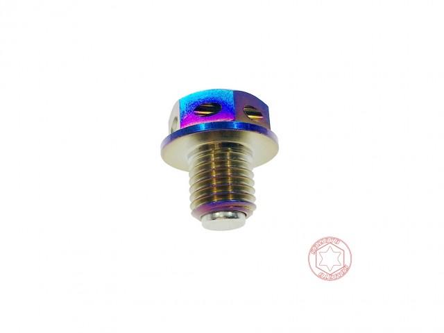 DRG FNX 鍍鈦白鐵強力磁石齒輪油洩油螺絲