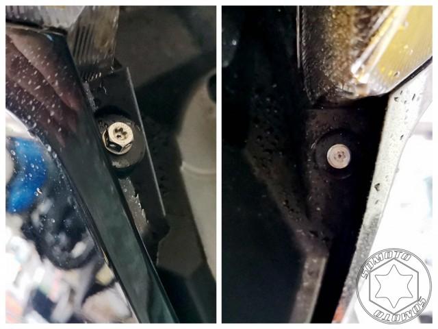 DRG前H殼燈下方鐵板牙白鐵螺絲組