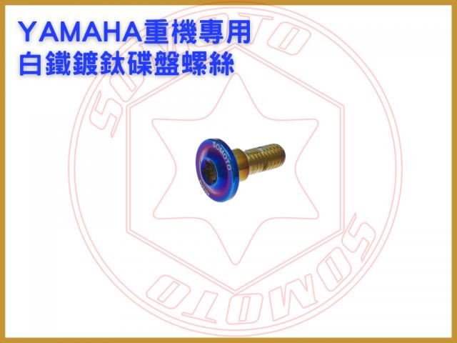 YAMAHA重機鍍鈦碟盤螺絲M6 x 21mm/碟盤螺絲規格/重機碟盤螺絲規格/白鐵螺絲規格/機車白鐵螺絲