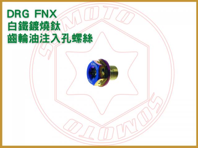 DRG FNX 齒輪油注入孔螺絲 白鐵鍍燒鈦/drg齒輪油螺絲/齒輪油注入孔螺絲/白鐵螺絲/機車螺絲