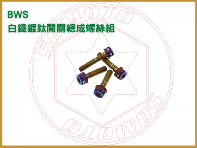 BWS 鍍燒鈦開關總成螺絲組/白鐵螺絲/開關總成螺絲/機車螺絲
