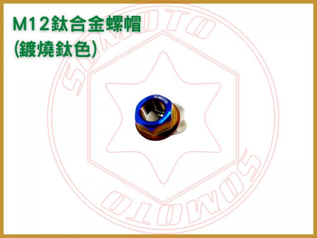 M12鈦合金螺帽 鍍燒鈦色 鈦合金螺母