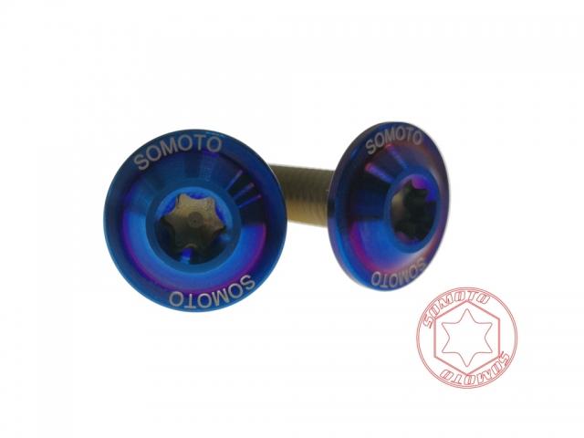 SOMOTO 【鈦合金】車牌螺絲 UFO M6X20 鍍燒色