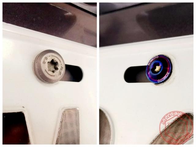 鈦合金 車牌螺絲 UFO M6X20 白鐵原色 鍍燒鈦色